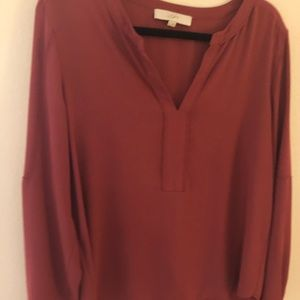 Rust colored Loft Blouse size L